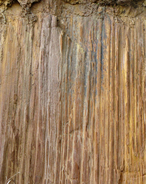 coloured rockface: appearances and colours of a  variety of hillside rock-faces