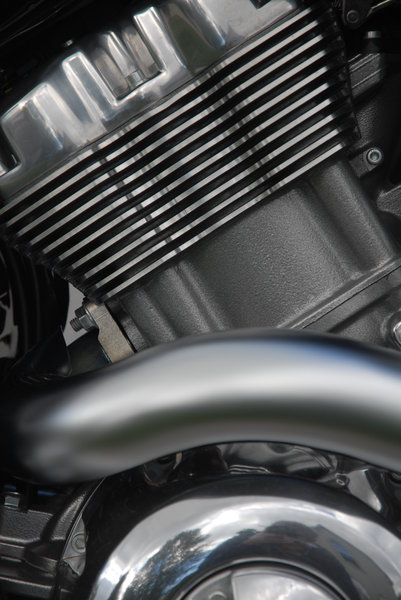 Engine: Motorcycle engine.