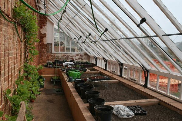 Greenhouse preparations: Preparing a greenhouse for the first sowings of spring.