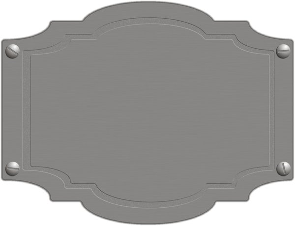 Door plate: The metal blank plate