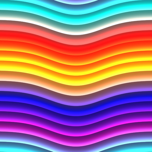 Wavy Lines 3: Bright multicoloured wavy lines in yellow, orange, red, pink, blue, aqua and purple. These attention getting textures are suitable for backgrounds, fills, and design elements.