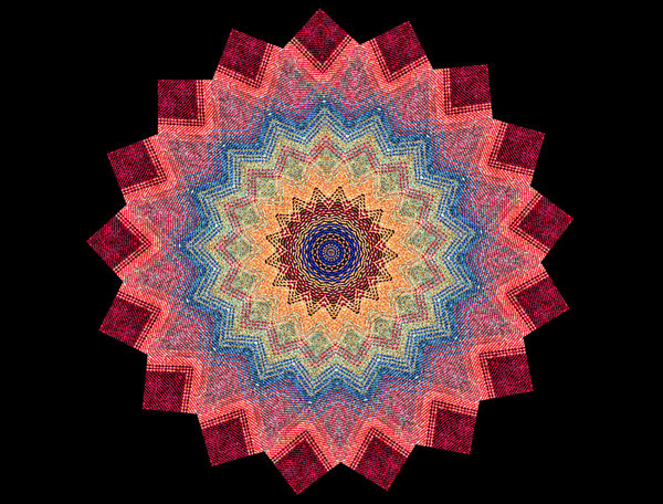 colourful cloth mandala: abstract backgrounds, textures, patterns, geometric patterns, kaleidoscopic patterns, circles, shapes and perspectives from altering and manipulating image