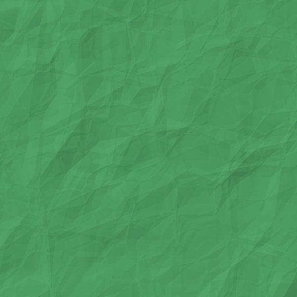 Crumpled Coloured Paper Green: A square piece of green crumpled, wrinkled paper suitable for a great background, texture, fill, or design element.