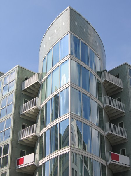 glass cylinder facade: glass cylinder facade