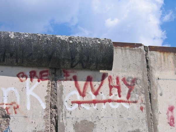 the berlin wall: the berlin wall (or what is still left of it)