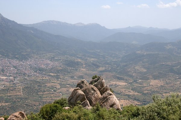 Outcrop: A mountain rock outcrop high in the interior of Sardinia.