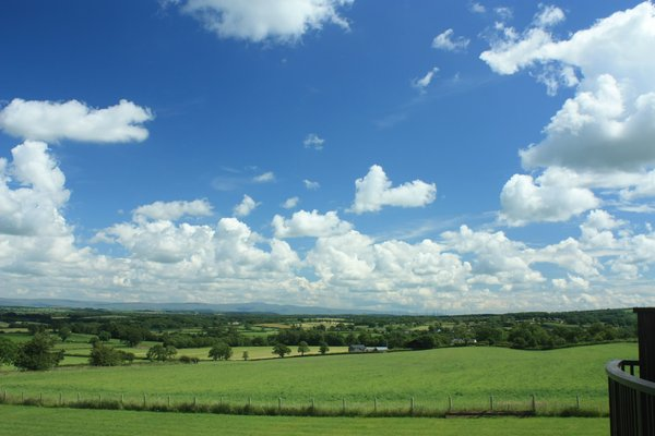 Rural landscape: View over the Eden valley, Cumbria