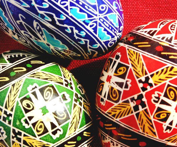 Easter eggs: Handpainted easter eggs.