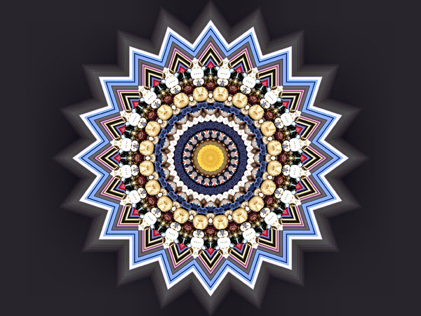 glowing button mandala: abstract backgrounds, textures, patterns, geometric patterns, kaleidoscopic patterns, circles, shapes and perspectives from altering and manipulating images