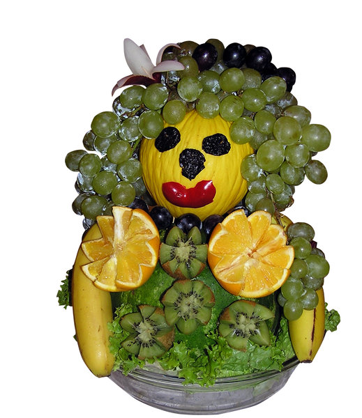 Fruit man: A guy made of fruit.