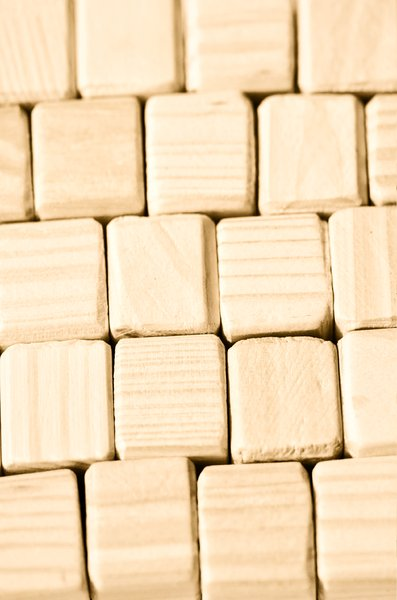 Wooden blocks background: wood texture
