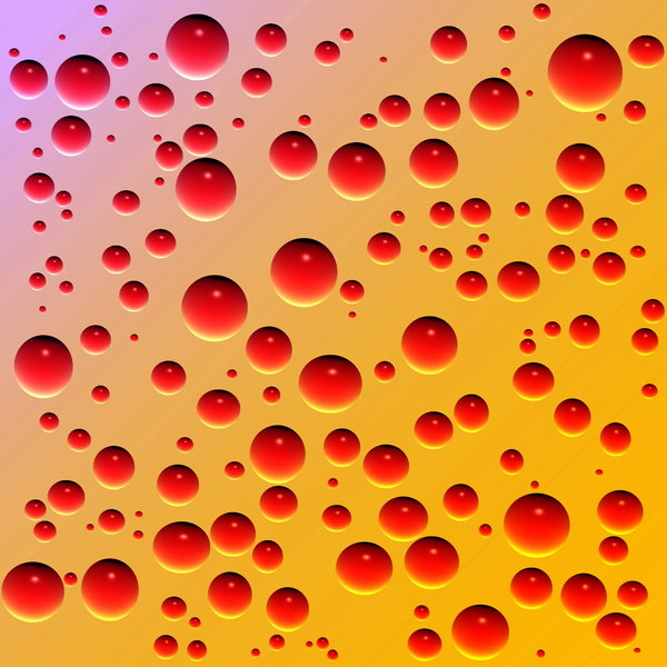 Red Droplets: Red droplets on a yellow background. Could represent blood drops.