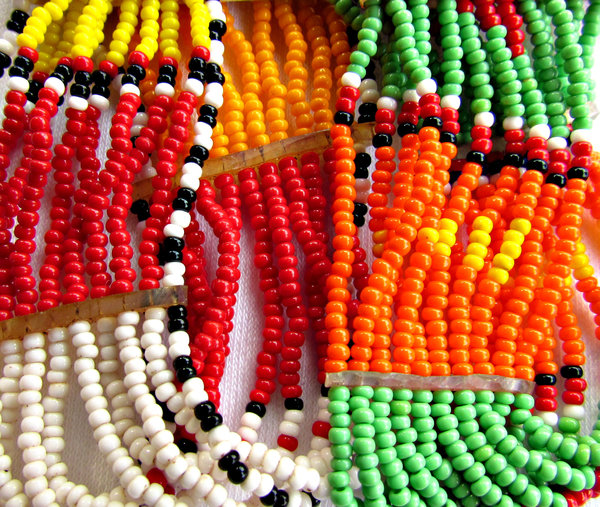 African beads1: hand-made African beaded bracelets