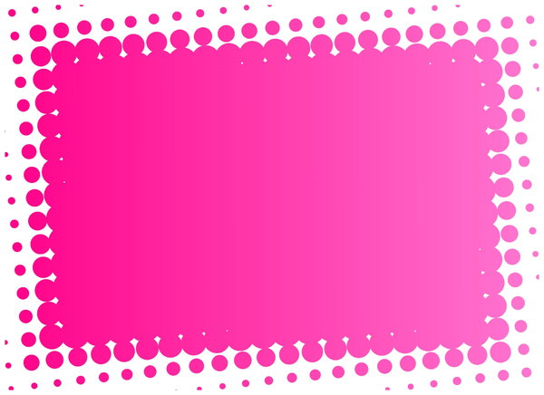 Dot Banner 2: A pink banner with a dotted edge.