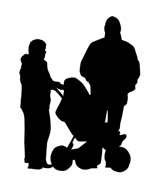 Family: A family silhouette