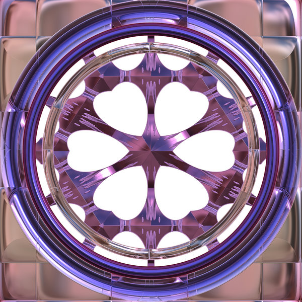 Gothic Window Round A 3D Fantasy Styled In Royal Shades Can Be
