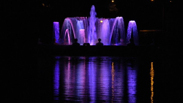 Denver City Park Fountain: The fountain in City Park, Denver. The fountain dates back to 1908 and recently underwent a renovation project which included new LED lights.