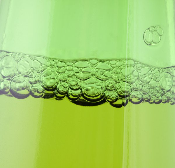 Green beer bubbles: Green beer bubbles