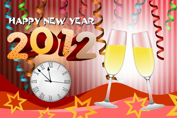 Happy New Year 2012: Neaw Year Wallpaper