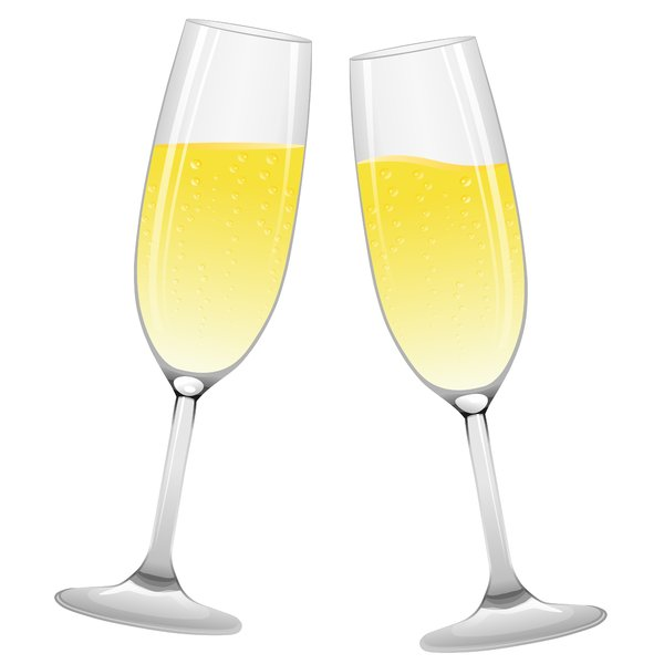 Champagne Glasses: Champagne glasses on the white background