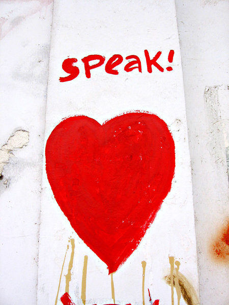 speak love: a wallpainting