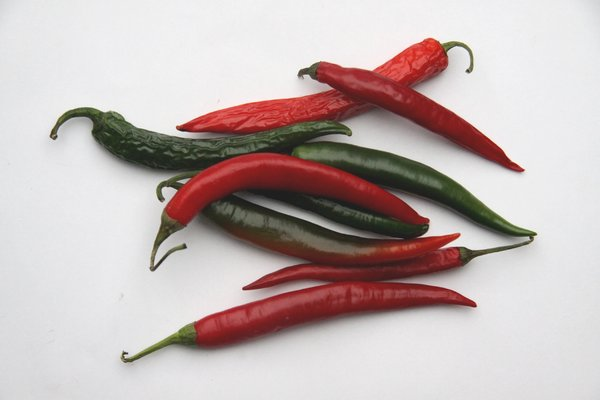 Chilies: Red and green pepper
