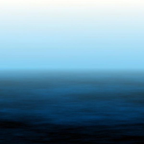 Watery Horizon 3: A warm blue seascape background in colours of blue and white. Lots of copyspace, and would make an excellent backdrop.