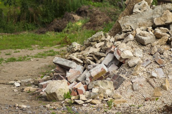 Building Rubble: Pile of old bricks