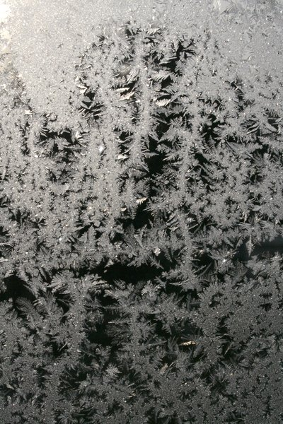 ice glass: ice crystals on window