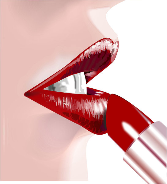lipstick: Women make up in vector art