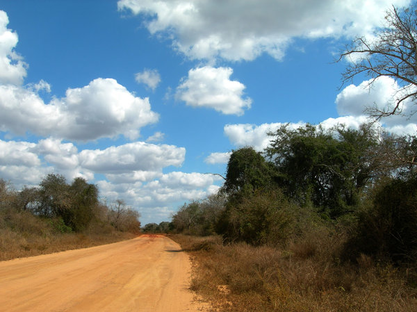 african road: photo taken in Mozambique