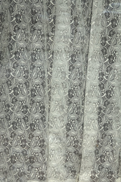 Lace Curtain: Lace curtain on a window