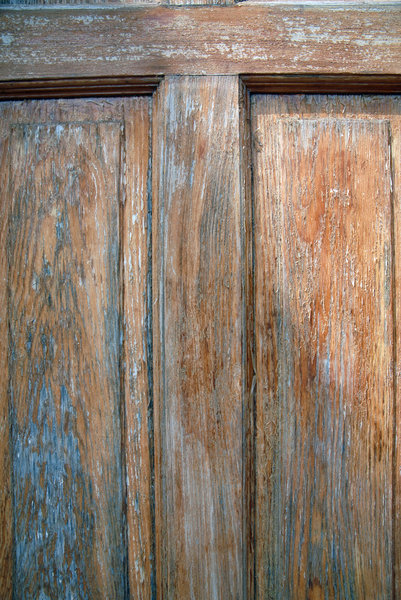 Wood Door: A weathered wood door.