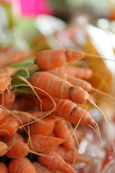 Carrots for sale: Carrots for sale at a local market