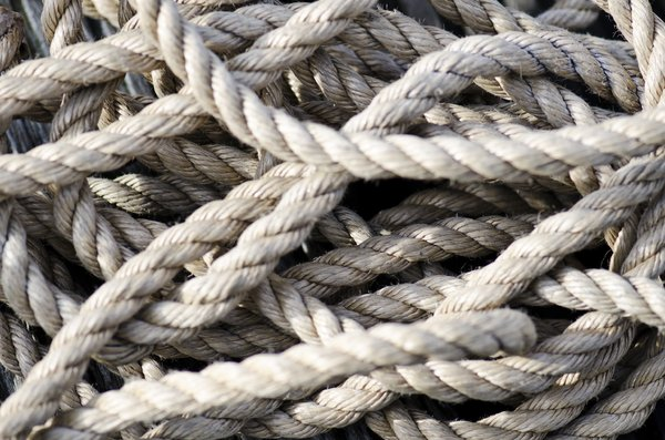 Tangled rope: Tangled rope texture shallow DOF