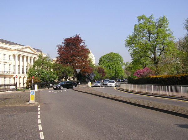 Regent's Park in London: A road near famous park