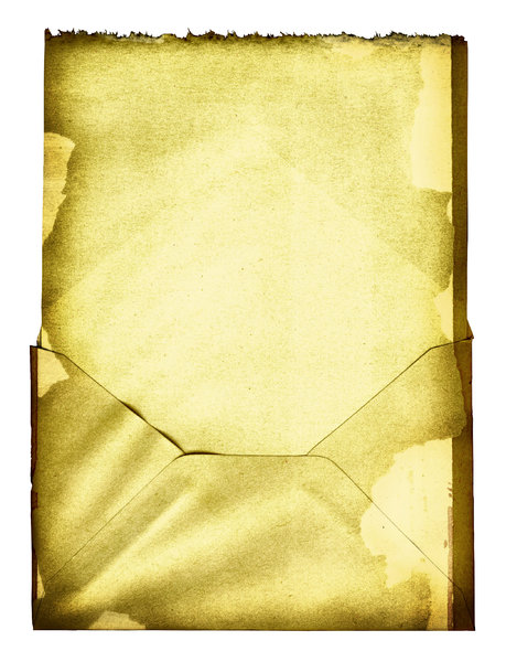 Grungy Envelope: An isolated stained envelope.