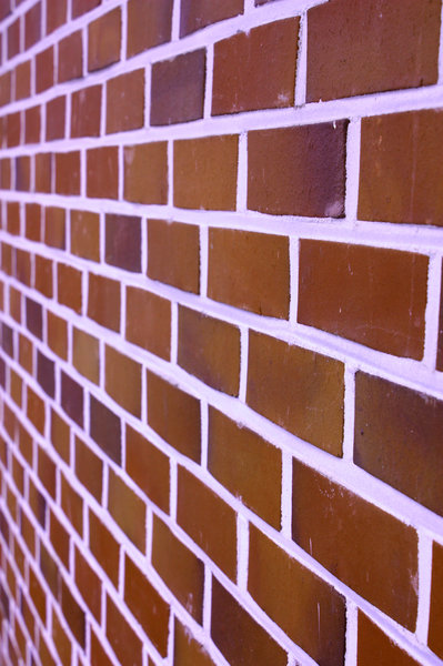 red bricks: red brick wall