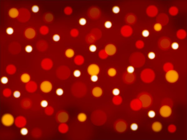 Red and Gold Bokeh: Digitally created soft light boken in red and gold.