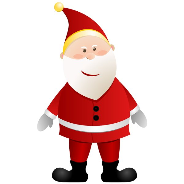 Christmas Elements - Santa 1: Santa Claus on the white background