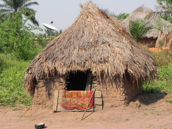 african hut: photo taken in DR Congo