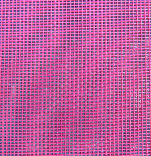 plastic coated metal mesh1: pink plastic coated mesh of metal chair
