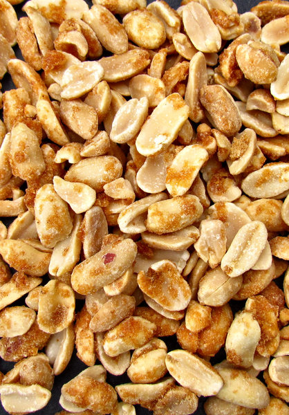savoury honeyed peanuts1: bulk quantities of honey and spices coated peanuts