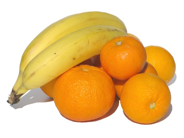 oranges and bananas: none