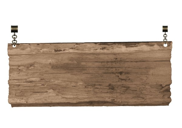 wooden board: wooden board on chain