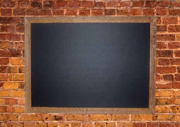 Brickwall: Brickwall with blackboard