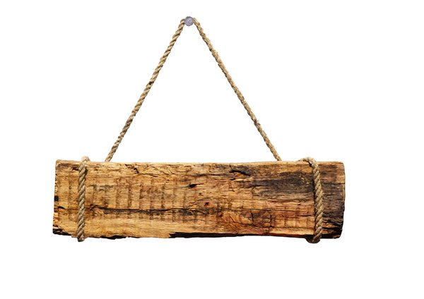 Board: wooden hanging board