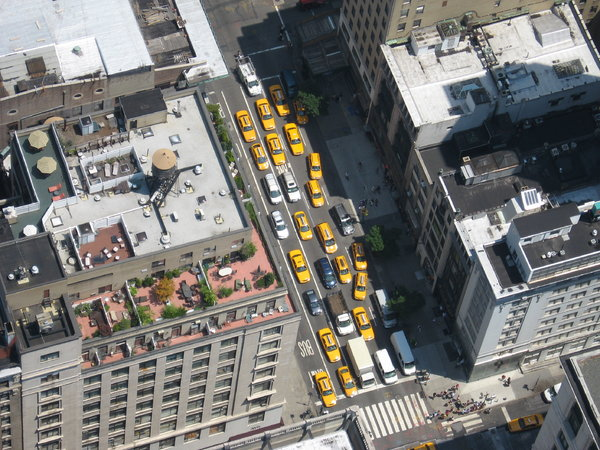 New York Taxis: Taxis seen from the Empire State Building, NY