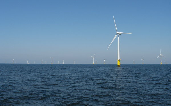 Wind Farm: Off-shore Wind Farm near Dutch coast