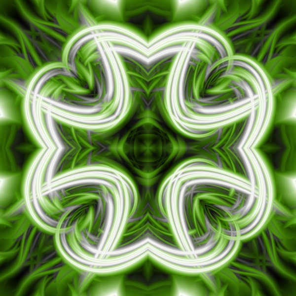 Abstract Clover: Digitally rendered abstract texture reminiscent of a clover leaf. Should tile seamlessly in case you want to use it as a pattern.